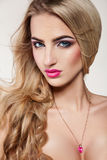 Gorgeous blonde girl in studio Royalty Free Stock Photography
