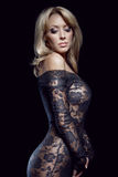 Gorgeous blonde in lace dress Royalty Free Stock Photos