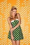 Gorgeous blonde model in retro fashion Royalty Free Stock Image