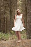 Gorgeous blonde teen girl in forest Royalty Free Stock Photo