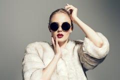 Gorgeous blonde woman royalty free stock photos