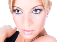 Gorgeous Blondy With Green Eyes Stock Photo