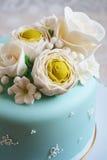Gorgeous blue cake Stock Photos