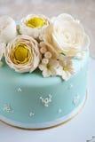 Gorgeous blue cake Royalty Free Stock Photos