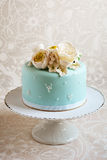 Gorgeous blue cake Royalty Free Stock Images