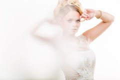 Gorgeous bride on her wedding day Royalty Free Stock Photography