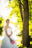 Gorgeous bride on her wedding day Royalty Free Stock Photo