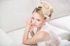 Gorgeous bride on her wedding day Royalty Free Stock Photo