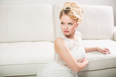 Gorgeous bride on her wedding day Stock Photo