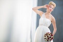 Gorgeous bride on her wedding day Stock Photos