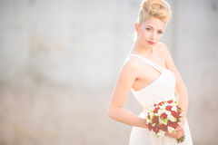 Gorgeous bride on her wedding day Royalty Free Stock Image