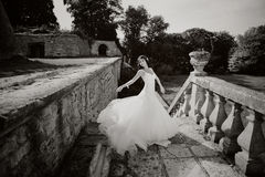 Gorgeous bride outdoors Royalty Free Stock Photos