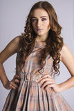 Gorgeous  Brown-haired model with beautiful hair Stock Photography