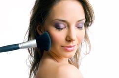 Gorgeous brunette with beautiful makeup Stock Photos
