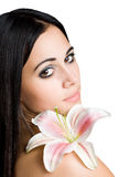 Gorgeous brunette beauty shot. Royalty Free Stock Photography
