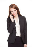 Gorgeous brunette businesswoman. Stock Photos
