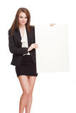 Gorgeous brunette businesswoman. Royalty Free Stock Photography