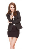 Gorgeous brunette businesswoman. Stock Image