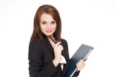 Gorgeous brunette businesswoman. Stock Photography