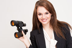 Gorgeous brunette businesswoman. Royalty Free Stock Photo