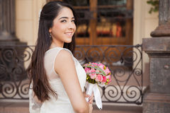 Gorgeous brunette getting married Royalty Free Stock Images