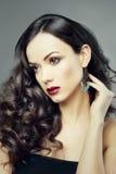 Gorgeous brunette lady Stock Image