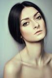 Gorgeous brunette portrait Stock Photos