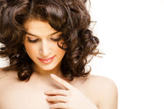 Gorgeous brunette posing Royalty Free Stock Image