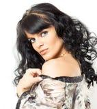 Gorgeous Brunette Posing Stock Images