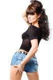 Gorgeous brunette posing Stock Image