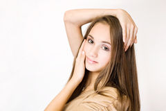 Gorgeous brunette teen girl. Stock Image