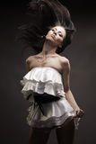 Gorgeous brunette woman dancing Royalty Free Stock Images