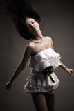Gorgeous brunette woman dancing Royalty Free Stock Photos