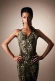 Gorgeous brunette woman  studio portrait Stock Image