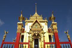 Gorgeous Buddhist Architecture Soars Into Blue Sky Royalty Free Stock Photos