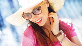 Gorgeous businesswoman on the vacation Royalty Free Stock Image