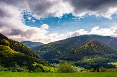 Gorgeous Carpathian weather in springtime. Stock Image