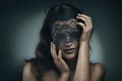 Gorgeous cat-girl Stock Images