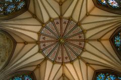 Gorgeous ceiling of the Chapter house of York Minster Cathedral in Yorkshire, England. UK stock images