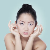 Gorgeous chinese model with beautiful skin Stock Photos