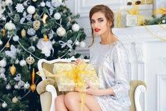 Gorgeous christmas girl stock image