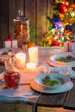 Gorgeous Christmas table setting Stock Image