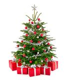 Gorgeous Christmas tree with gift boxes Royalty Free Stock Photo