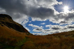 Gorgeous Clouds Over Arthur's Seat Stock Image