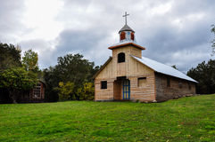 Gorgeous Colored and Wooden Churches, Chiloé Island, Chile Stock Photography