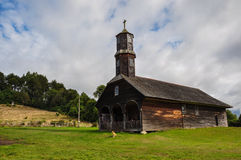 Gorgeous Colored and Wooden Churches, Chiloé Island, Chile Royalty Free Stock Image
