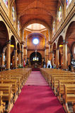 Gorgeous Colored and Wooden Churches, Chiloé Island, Chile Royalty Free Stock Photography