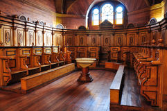 Gorgeous Colored and Wooden Churches, Chiloé Island, Chile Royalty Free Stock Images