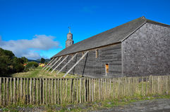 Gorgeous Colored and Wooden Churches, Chiloe Island, Chile Royalty Free Stock Image