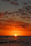 Gorgeous colors of sunset, Mauritius Royalty Free Stock Photos